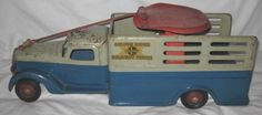 Antique Pressed Steel Toy Buddy L Deluxe Rider Delivery Truck 1938 Stake Side