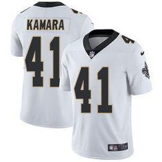 Nike Saints #41 Alvin Kamara White Men's Stitched NFL Vapor Untouchable Limited Jersey