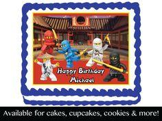 Lego Ninjago Edible Birthday Party Cake by ediblecaketopdesigns