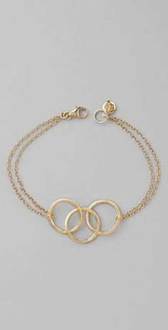 I want this in silver and as a necklace!!!  Gorjana Viceroy Bracelet / Shopbop