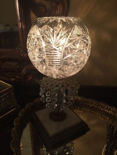 Table vintage lamp crystal