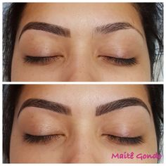 microblading before and after Eyebrows Sketch, Mircoblading Eyebrows, Eyebrows Goals, Permanent Makeup Eyebrows, Body Makeup, Eyebrow Makeup, Eyebrow Before And After, Eyebrow Trends, Eyebrow Design