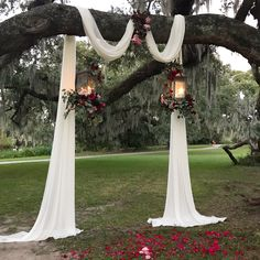 Gone are the days where weddings and wedding receptions mean securing the reception hall at one's local church that is around the corner. Forest Wedding, Fall Wedding, Wedding Ceremony, Rustic Wedding, Our Wedding, Wedding Venues, Dream Wedding, Wedding Stuff, Outdoor Wedding Decorations