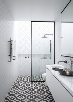 3 Astounding Tricks: Shower Remodel On A Budget Walk In shower remodeling ideas gray.Small Shower Remodel Before And After shower remodeling ideas gray.Tub To Shower Remodel Small Spaces. Bathroom Trends, Modern Bathroom, Master Bathroom, White Bathroom, Long Narrow Bathroom, Small Bathrooms, Basement Bathroom, Small Baths, Bathroom Vintage