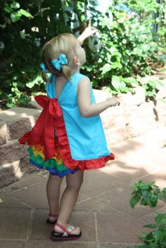 babydoll swing top & ruffled bloomers..