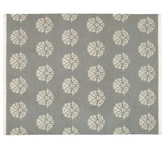 $169 and $399 Enzo Medallion Dhurrie Rug - Gray | Pottery Barn