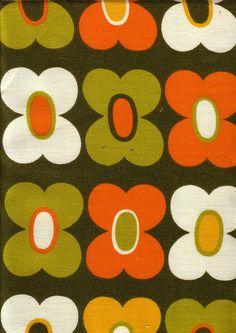 Retro flower fabric