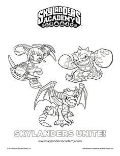 Free Skylanders Unite Printable Coloring Page