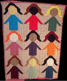 We're All God's Children by C.L. Halvorson... Reminds me of an old fashion quilt!