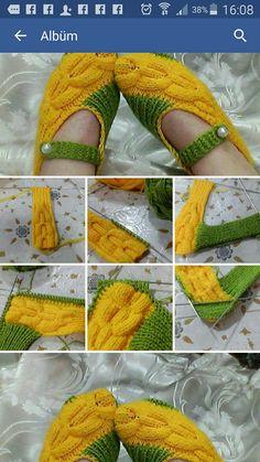 "# # # # Çok güzel patik örneği [ "" So cute but no pattern"" ] Knitting Stiches, Knitting Blogs, Crochet Stitches Patterns, Crochet Designs, Baby Knitting, Knitting Patterns, Knitting Socks, Crochet Toddler, Crochet Girls"