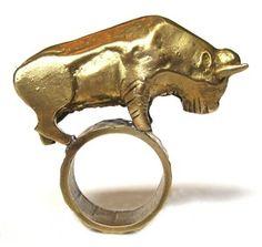 #ring bison