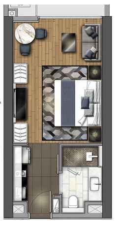 Hotel Trendy Bedroom Design Hotel Floor Plans Ideas Boost Yield by Adding to Your Hydro Living Room Floor Plans, Apartment Floor Plans, Apartment Kitchen, Room Kitchen, Kitchen Living, Kitchen Floor, Living Rooms, Living Room Plan, Hotel Apartment