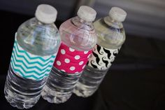 use the brown stache wrapping paper for water labels