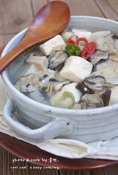 실패하지 않는 안전 레시피..연말 연시 해장에 좋은 굴두부국 – 레시피 | Daum 요리 Home Recipes, Culinary Arts, Korean Food, Kimchi, No Cook Meals, Soups And Stews, Tofu, Side Dishes, Clean Eating