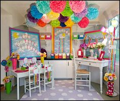 Tissue paper poms. Baby shower, Bridal shower, Birthday party Decorations. Set of 10 poms.. $33.00, via Etsy.
