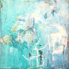 Coup de cœur du 2ème Salon de peinture abstraite sur www.myrankart.com  Deep Blue Sea by Sofia Barao