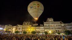 El globo de Betanzos agranda, un año más, su fama