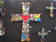 Large collage cross $125