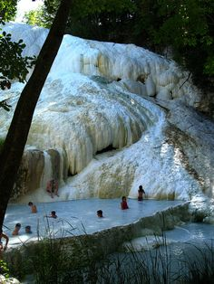 Terme di San Filippo hot springs in Tuscany / Italy (by Elisewin).