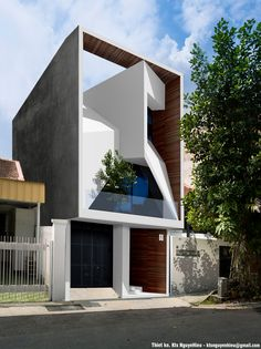 Cross house designed by NguyenHieuARC Lead Architect: Nguyen Trung Hieu Area: 330 m² Year: 2019 Vinh Yen city, Vinh Phuc, Facade Architecture, Residential Architecture, Amazing Architecture, Contemporary Architecture, House Front Design, Small House Design, Modern House Design, Villa Design, Facade Design