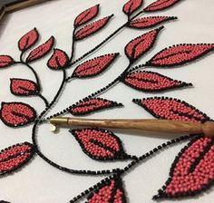 Zardozi Embroidery, Embroidery On Kurtis, Kurti Embroidery Design, Hand Embroidery Dress, Hand Embroidery Videos, Bead Embroidery Patterns, Tambour Embroidery, Embroidery On Clothes, Embroidery Works