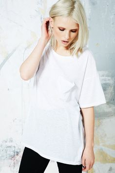 BDG Boyfriend-T-Shirt aus Materialmischung