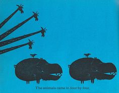 Hippos!!            One Wide River to Cross by Ed and Barbara Emberley by jill_m_casey, via Flickr
