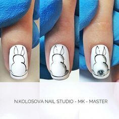The advantage of the gel is that it allows you to enjoy your French manicure for a long time. There are four different ways to make a French manicure on gel nails. Easter Nail Designs, Easter Nail Art, Cute Nail Designs, Nail Art Diy, Diy Nails, Cute Nails, Pretty Nails, Nail Art Long, Nagel Gel