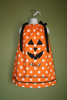 Pumpkin pillow case dress