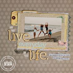 ScrapBook Designers / Featuring a mix of lines by Pink Paislee, created by Corrie Jones.