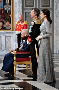 (L-R) Denmark's Queen Margrethe II, Crown Prince Frederik and Crown Princess Mary welcomed members of the diplomatic corps, ambassadors and other prominent guests to their traditional New Year reception at Christiansborg castle in Copenhagen Denmark Royal Family, Danish Royal Family, Crown Princess Mary, Prince And Princess, Top Gris, Prince Frederik Of Denmark, Prince Frederick, Queen Margrethe Ii, Danish Royalty