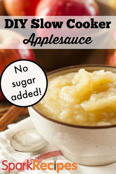 Homemade Slow Cooker Applesauce Recipe via @SparkPeople