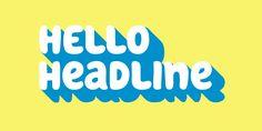 Hello Headline - Webfont & Desktop font « MyFonts