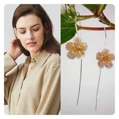 Sterling Silver & Gold Cherry Blossom EarringsThe significance of the cherry blossom tree in Japanese culture goes back hundreds of years. In their country, the cherry blossom represents the fragility and the beauty of life. It's a reminder that life is almost overwhelmingly beautiful but that it is also tragically short. #cherryblossomsafterwinter #fragile #beauty #botanical #poppydotsdesign #winelandsliving_popup