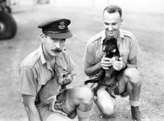 Soldiers With Their Pets