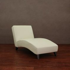 Cleo Creme Leather Chaise | Overstock.com Shopping - Great Deals on Chairs