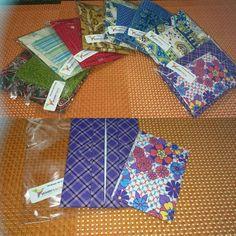 Kits coordenados: porta cartões + porta lenços de papel