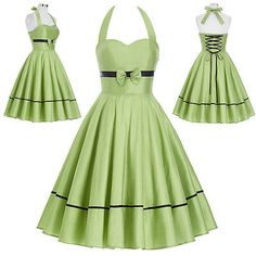 1950s Vintage Style Halter Retro Swing Pin Up Housewife Cocktail Party Dress New
