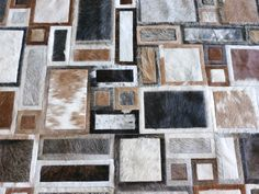 LIFESTYLE by Cara - Montevideo cowhide patchwork rug - beige brown caramel white grey