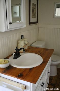 The current farmhouse design it isn't just for rooms. The farmhouse design totally reflects the entire style of the home and the family tradition also. It totally reflects the entire style… Farmhouse Bathroom Sink, Primitive Bathrooms, Rustic Bathrooms, Downstairs Bathroom, Bathroom Renos, Bathroom Renovations, Bathroom Faucets, Bathroom Ideas, Bathroom Commode