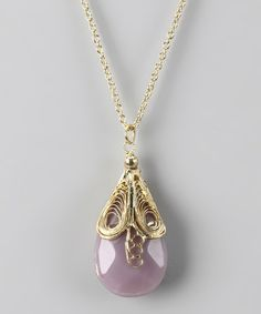 Gold & Lilac Candace Necklace