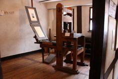 Historic wooden printing press of Albrecht Dürer