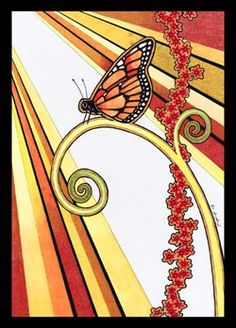 Monarch butterfly totem; a fleeting messenger that came to me