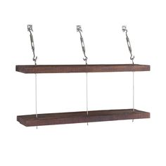 Make a storage statement with these Turnbuckle shelves. Built from 93-year-old reclaimed pine wood, and suspended with stainless steel hardware, these wooden ledges almost look like they're floating. P...  Find the Turnbuckle Stacked Shelves, as seen in the Beautifully Deconstructed Collection at http://dotandbo.com/collections/beautifully-deconstructed?utm_source=pinterest&utm_medium=organic&db_sku=DBIIM2T_003