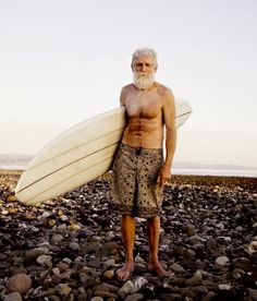 While there is a time and place to learn and grow in the art of wave-riding; surfing is an eternal mystical experience as seen in this old gent.