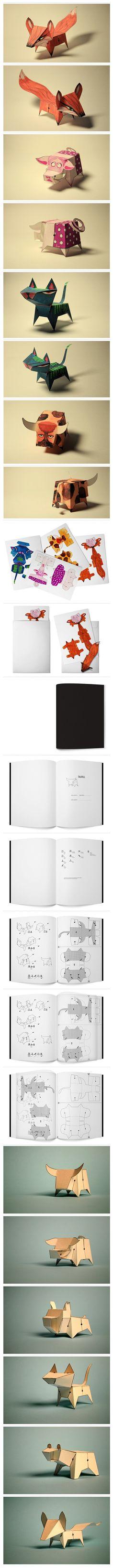 http://www.behance.net/gallery/Glueless-Paper-Animals-(JUST-FOLD)/1121893