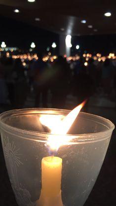 Santuario de Fátima, noche, velas Candle Jars, Candles, Tea Lights, My Photos, Candle Mason Jars, Candle, Lights