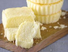 Melt-In-Your-Mouth Taisan With Queso de Bola by Dorothy MJ Ferreria prep 30 mins cook 15 mins yield 12 2 1/4 cups sifted cake flour 1/2 cups sugar 1 Tbsp baking powder 6 egg yolks 1/2 cups...
