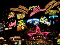 Las Vegas Hotel On The Strip Celebrating more than 55 years of non-stop entertainment, the Riviera Hotel Vegas Lights, Casino Night Party, Casino Theme Parties, Baroque, Las Vegas Sign, Vegas Casino, Feather Centerpieces, Party Food Themes