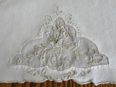 Trio Madeira Vintage Fine Linen Organdy Guest Towels from vintageblessings on Ruby Lane